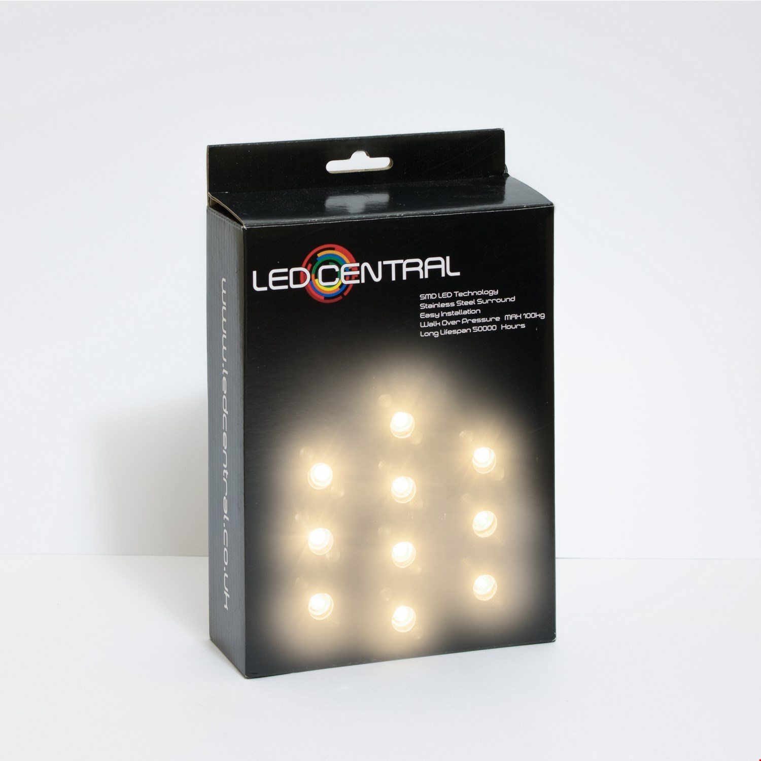 10 x 15mm LED Decking/Kitchen Lights Various Colours