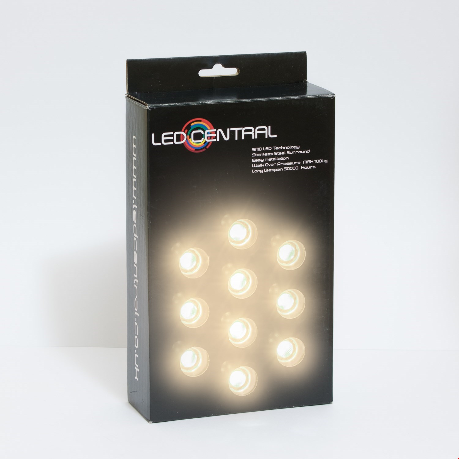 10 x 25mm LED Decking/Kitchen Lights Various Colours