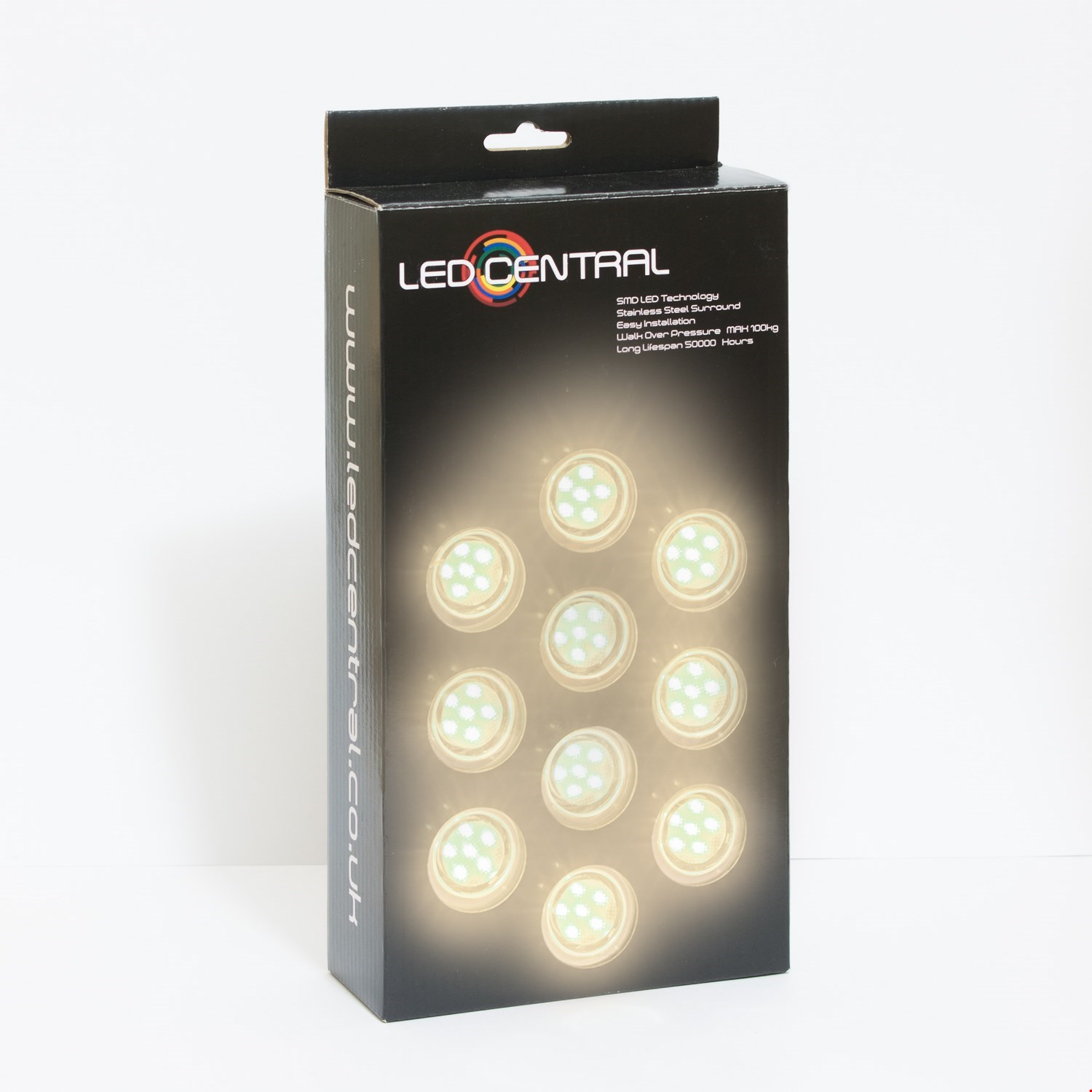 10 x 45mm LED Decking/Kitchen Lights Various Colours