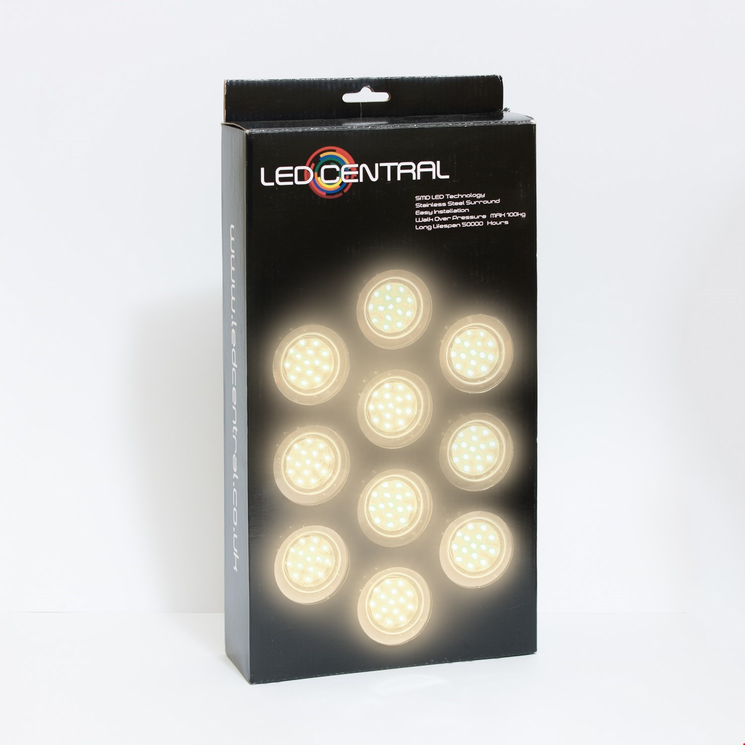 10 x 60mm LED Decking/Kitchen Lights Various Colours
